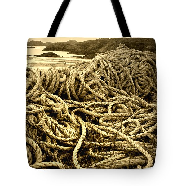 Ropes On Shore Tote Bag