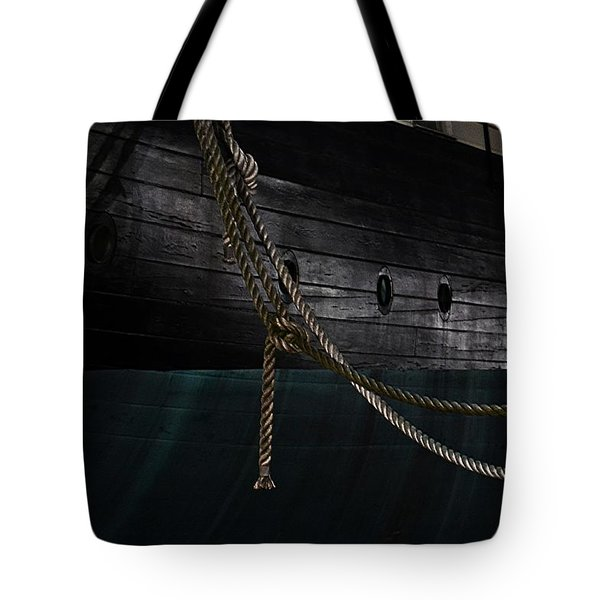Ropes On The Uss Constellation Navy Ship Tote Bag