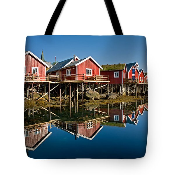 Rorbus In Reine Tote Bag by Aivar Mikko