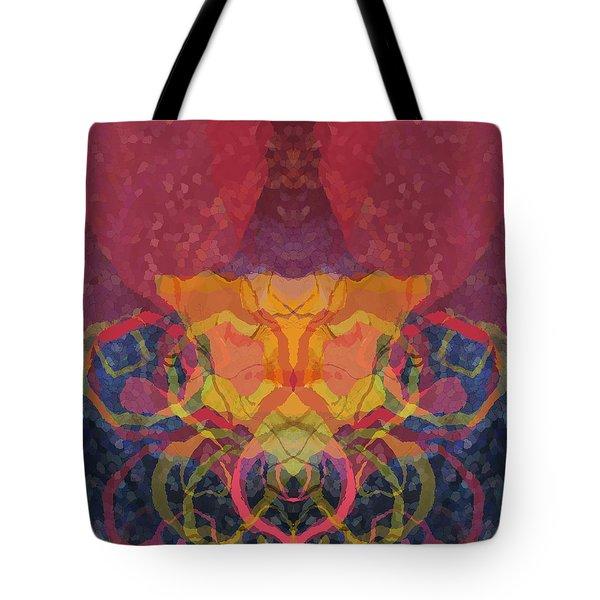 Tote Bag featuring the digital art Rorschach1 by David Klaboe