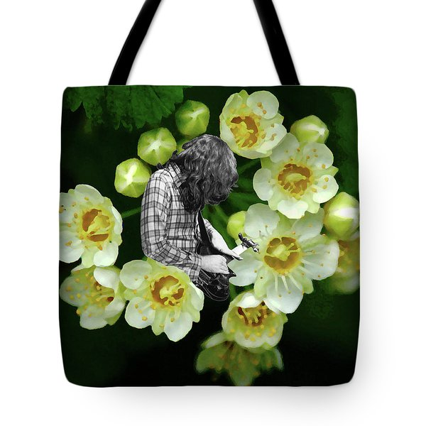 Tote Bag featuring the photograph Rory Flower by Ben Upham