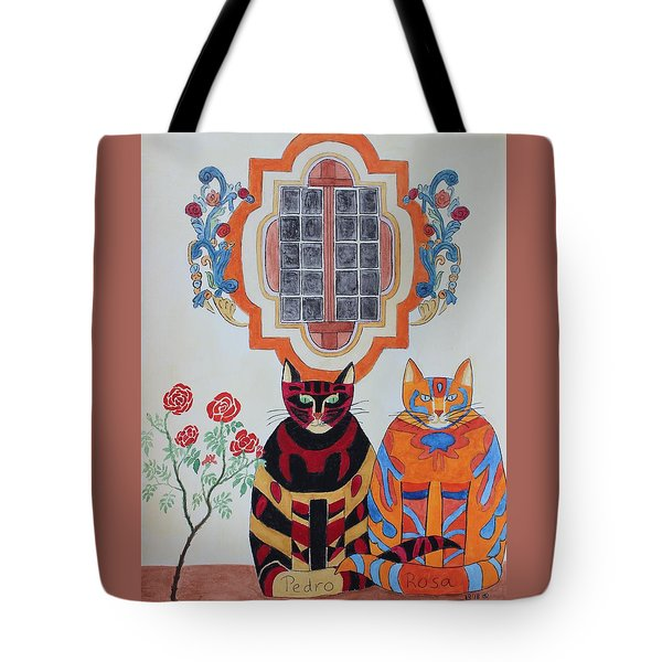 Rosa And Pedro Of The Rose Window Of Mission San Jose Tote Bag