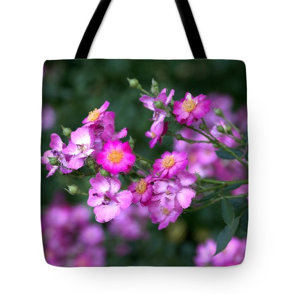 Tote Bag featuring the photograph rosa 'Daydream' 1762 by Brian Gryphon