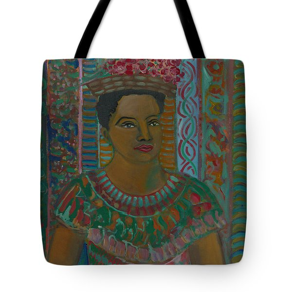 Tote Bag featuring the painting Rosa by John Keaton
