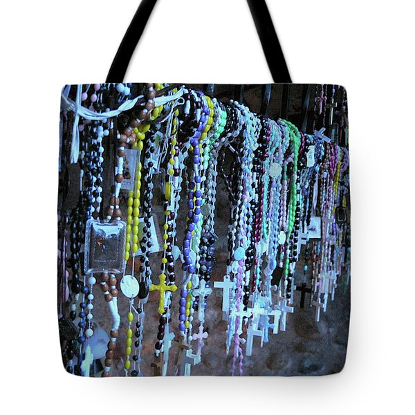 Rosary Tote Bag by Angela Wright