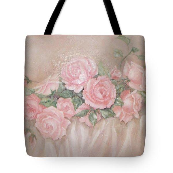 Rose Abundance Painting Tote Bag by Chris Hobel