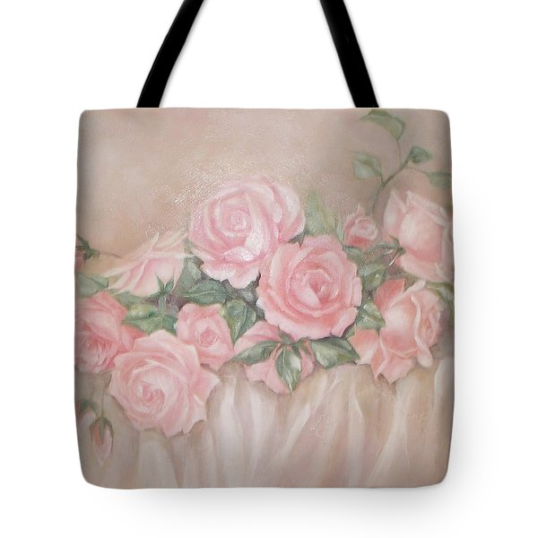 Rose Abundance Painting Tote Bag