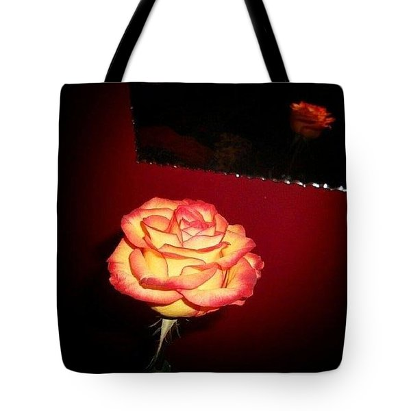 Rose And Reflections Tote Bag