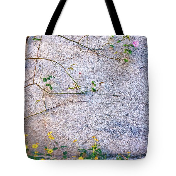 Tote Bag featuring the photograph Rose And Yellow Flowers by Silvia Ganora