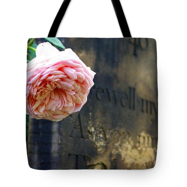 Rose At The Grave Tote Bag