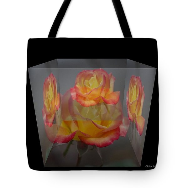 Rose Block Tote Bag