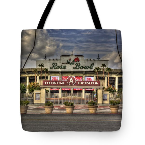 Rose Bowl Hdr Tote Bag