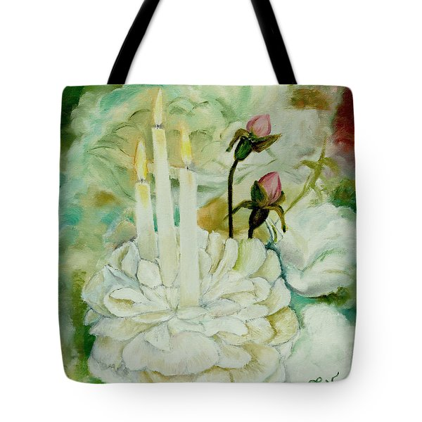 Rose Candles Tote Bag