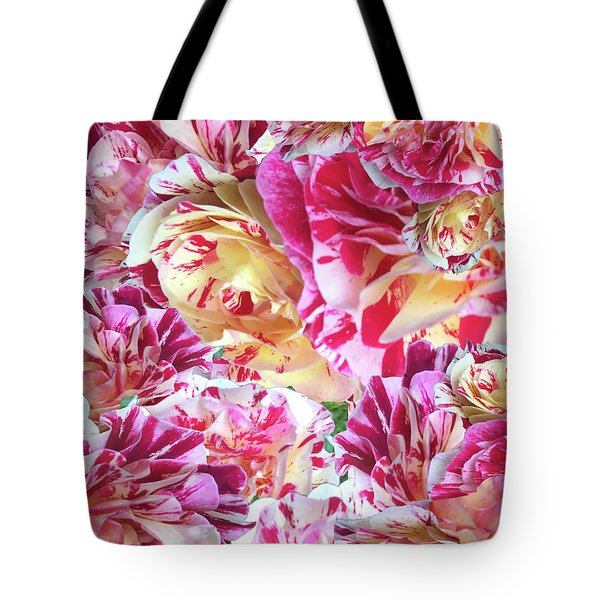 Rose Collage Tote Bag