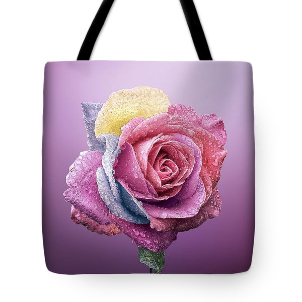 Rose Colorfull Tote Bag