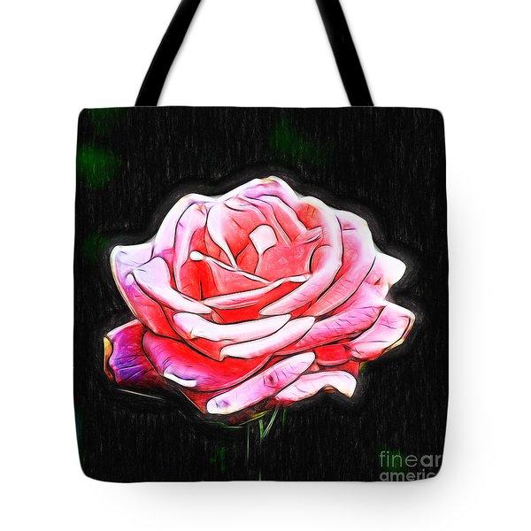 Rose Digital Tote Bag