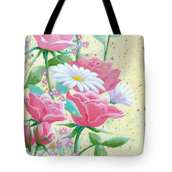 Rose Diptych 1 Tote Bag