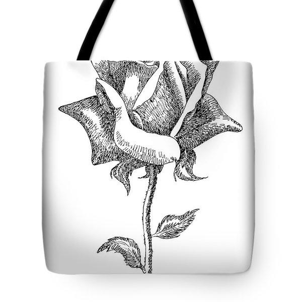 Rose Drawings Black-white 5 Tote Bag