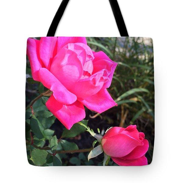 Rose Duet Tote Bag