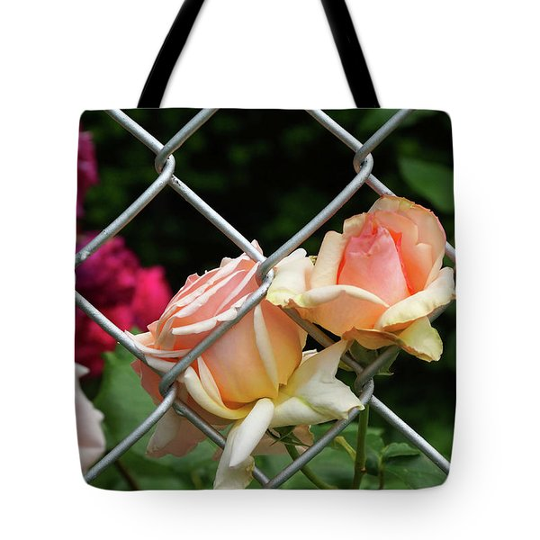 Rose Fence Tote Bag