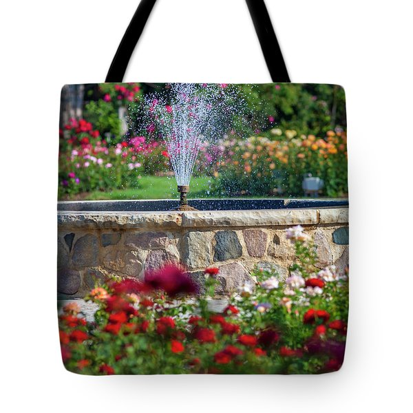 Rose Fountain Tote Bag
