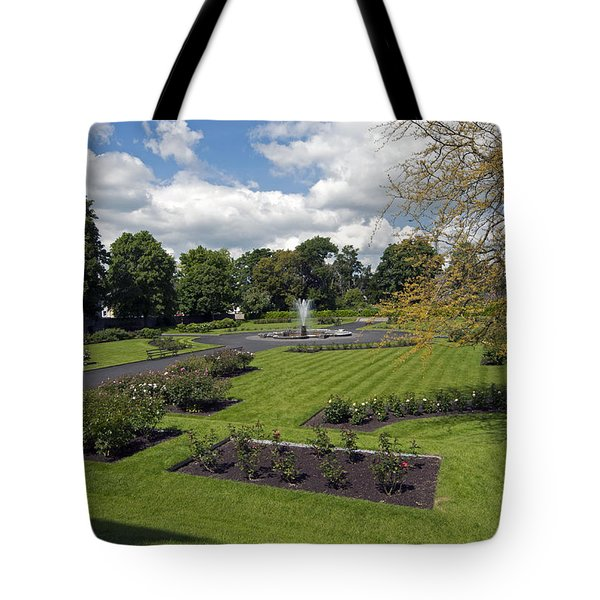 Rose Garden At Kilkenny Castle Tote Bag by Cindy Murphy - NightVisions
