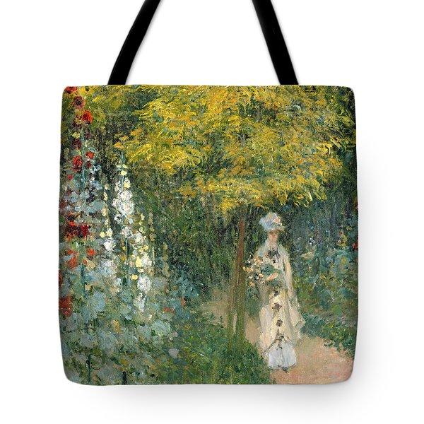 Rose Garden Tote Bag by Claude Monet