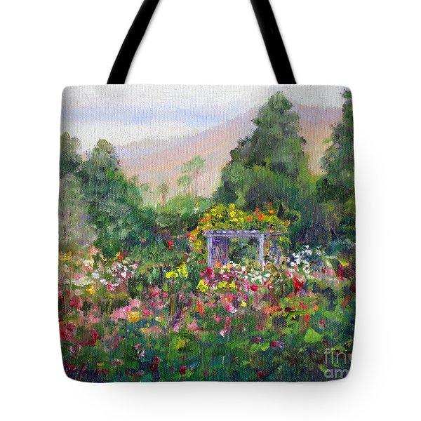 Rose Garden In Bloom Tote Bag