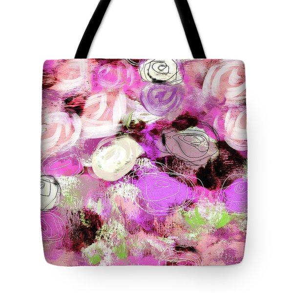 Rose Garden Promise- Art By Linda Woods Tote Bag