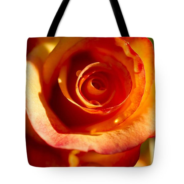Tote Bag featuring the photograph Rose Glow by Jeanette French