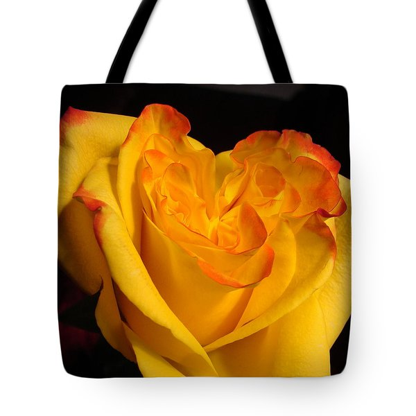 Tote Bag featuring the photograph Rose Heart by Margaret Bobb
