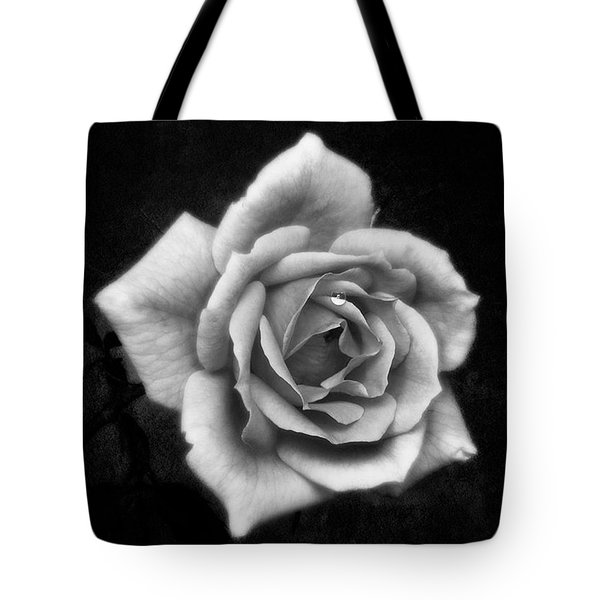 Rose In Mono. #flower #flowers Tote Bag by John Edwards