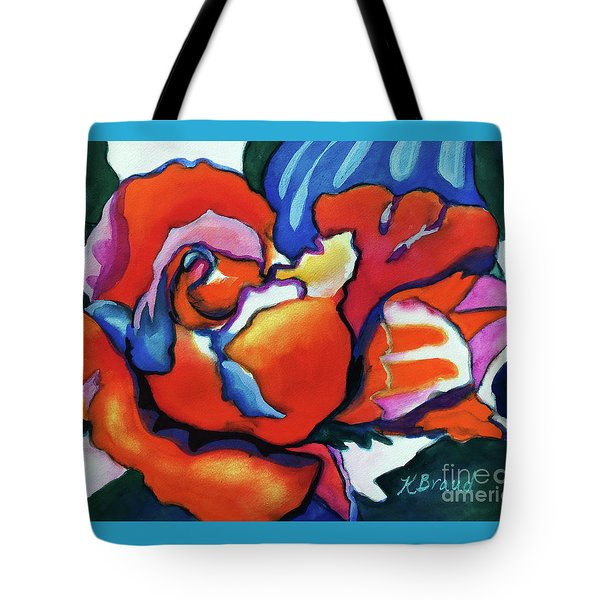 Tote Bag featuring the painting Rose In Outline by Kathy Braud