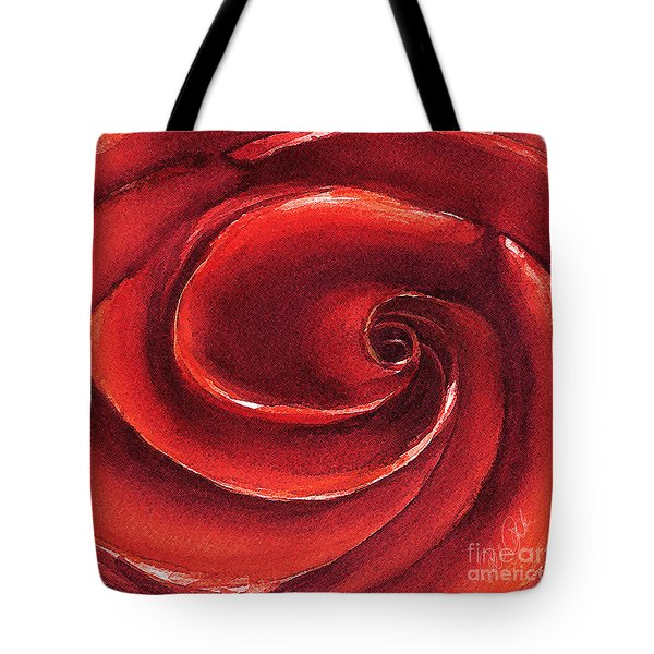 Tote Bag featuring the painting Rose In Stone by Allison Ashton