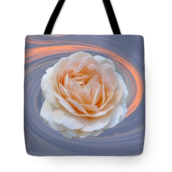 Rose In Swirl Tote Bag