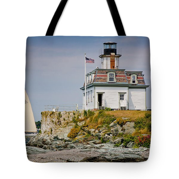 Rose Island Light Tote Bag