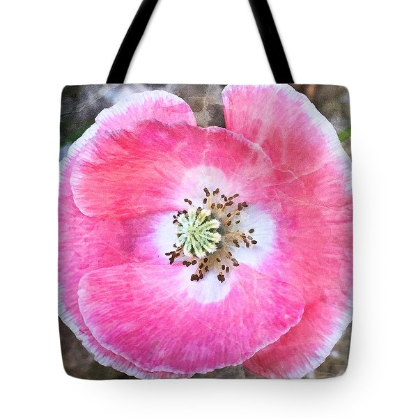 Rose Marble Tote Bag