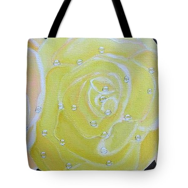 Rose Medley With Dewdrops Tote Bag