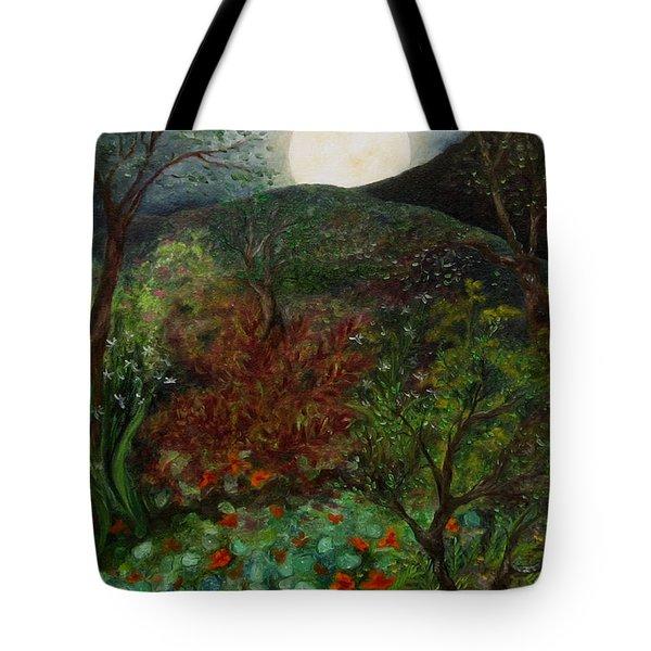 Rose Moon Tote Bag