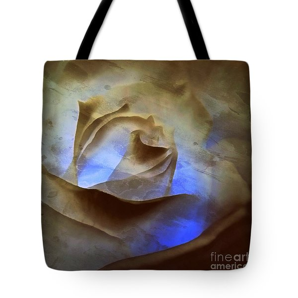 Tote Bag featuring the photograph Rose - Night Visions  by Janine Riley