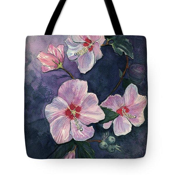 Rose Of Sharon Tote Bag by Katherine Miller