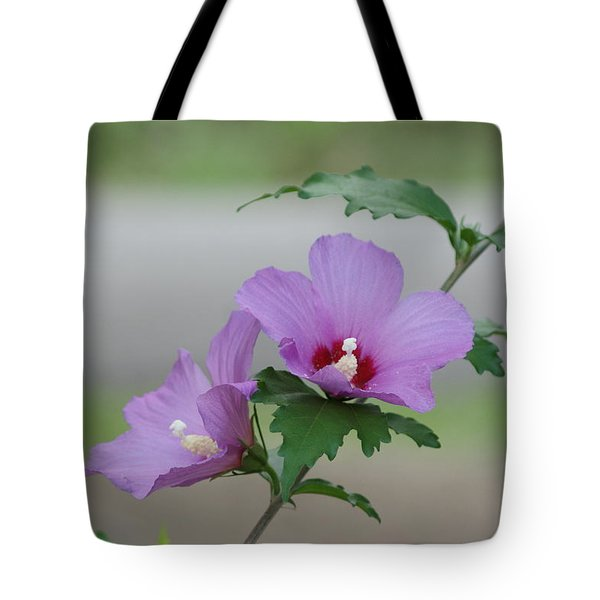 Rose Of Sharon Pair Tote Bag