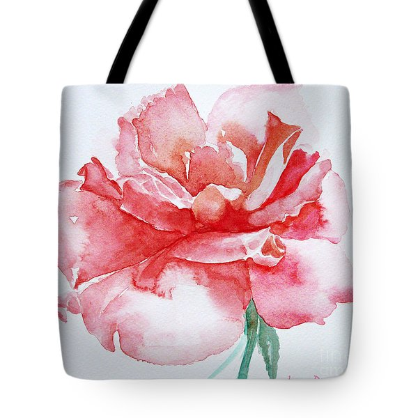 Rose Pink Tote Bag by Jasna Dragun