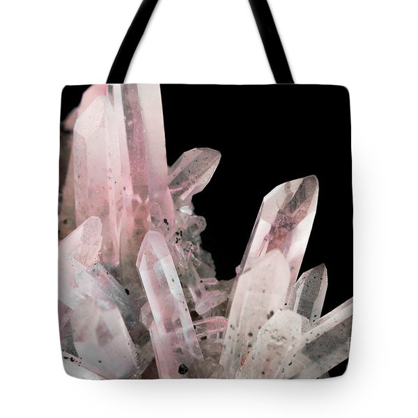 Rose Quartz Crystals Tote Bag