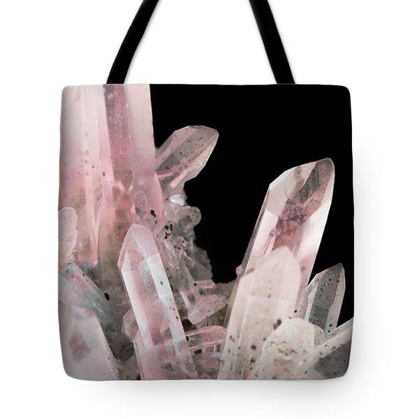 Rose Quartz Crystals Tote Bag