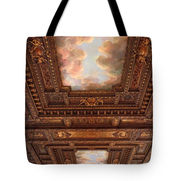 Tote Bag featuring the photograph Rose Reading Room Ceiling by Jessica Jenney