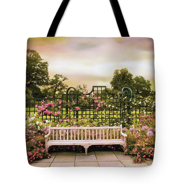 Tote Bag featuring the photograph Rose Respite by Jessica Jenney