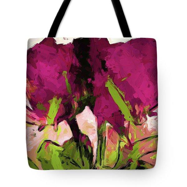 Rose Romantica Magenta Green Tote Bag