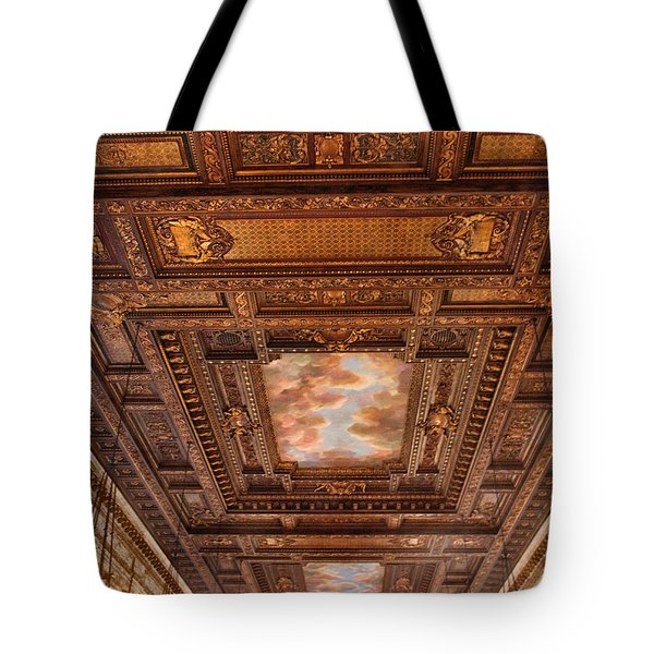 Tote Bag featuring the photograph Rose Room Ceiling by Jessica Jenney