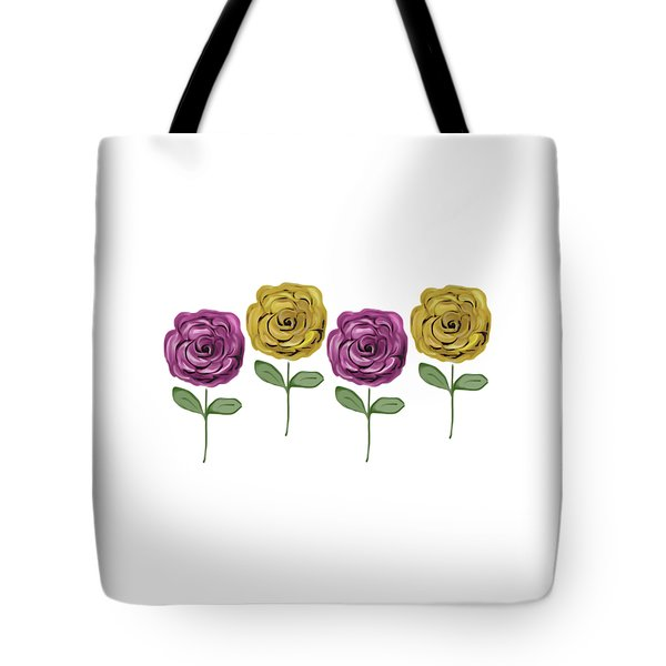 Rose Row Tote Bag by Priscilla Wolfe